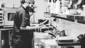 Tom and JJ creating magic in the kitchen!