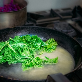 Kale - cooking in process!
